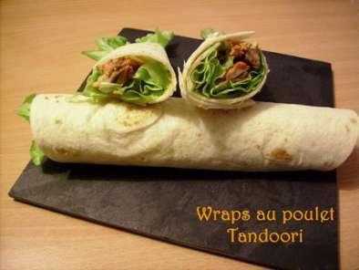 wraps au poulet tandoori recette ptitchef. Black Bedroom Furniture Sets. Home Design Ideas