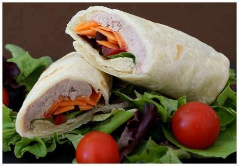 Wraps fra cheur thon kiri carottes tomates salade for Entree fraicheur rapide