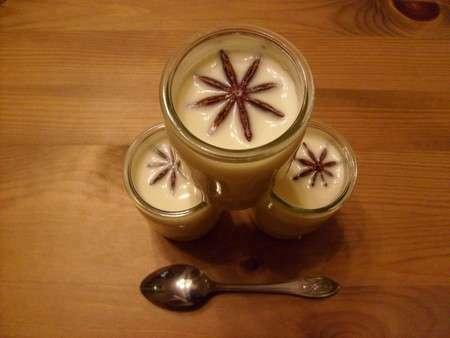 yaourts l 39 anis toil fleur de badiane recette ptitchef. Black Bedroom Furniture Sets. Home Design Ideas