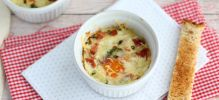 Oeufs cocotte bacon
